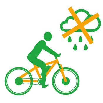 Ездить на электровелосипеде во время дождя